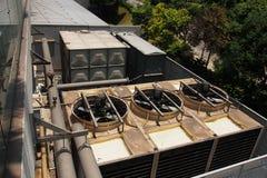 Industriële het Verwarmen Ventilatie en Airconditioningswarmtewisselaar stock foto