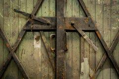 Industriële houten deur Royalty-vrije Stock Afbeelding