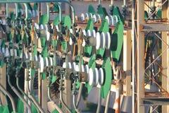 Industriële Hydro Elektrische Infrastructuur Stock Foto's