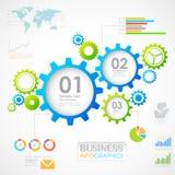 Industriële Infographics-Grafiek Royalty-vrije Stock Foto
