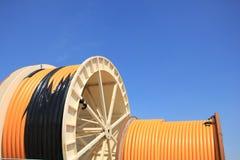 Industriële kabels stock afbeeldingen