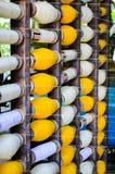 Industriële katoenen spoelen voor het weven royalty-vrije stock afbeeldingen