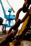 Industriële ketting Stock Fotografie