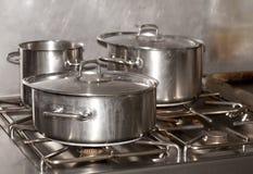Industriële keuken Royalty-vrije Stock Afbeeldingen