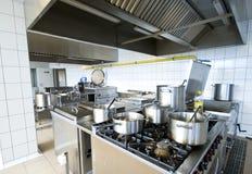 Industriële keuken Royalty-vrije Stock Afbeelding
