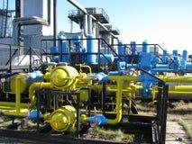 Industriële klep-ventil-regelgever eenheid Stock Foto's