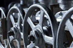 Industriële kleppen klaar voor bericht Stock Afbeelding