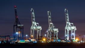 Industriële Kranen Royalty-vrije Stock Afbeeldingen