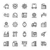 Industriële Lijn Vectorpictogrammen 6 Royalty-vrije Stock Afbeeldingen