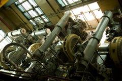Industriële luchtcompressoren Stock Foto's