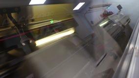 Industriële machine om producten te breien stock video