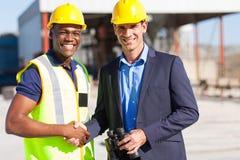 Industriële managerarbeider stock fotografie