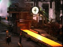 Industriële metallurgie stock foto's