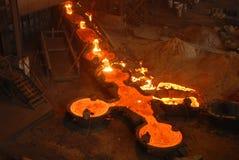 Industriële metallurgie stock afbeelding