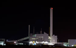 Industriële Nacht Royalty-vrije Stock Afbeelding