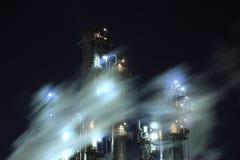 Industriële nachtmening Stock Fotografie