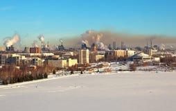 Industriële Nizhny Tagil Mening van Kale Vosbergen Royalty-vrije Stock Afbeeldingen