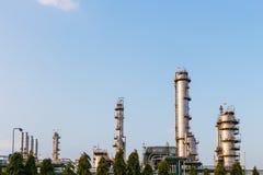 Industriële olie petrochemische fabriek royalty-vrije stock foto's