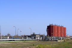 Industriële opslagtanks Stock Fotografie