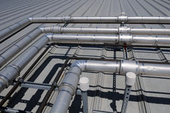 Industriële Pijpen Stock Foto's