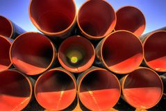 Industriële pijpen Stock Fotografie