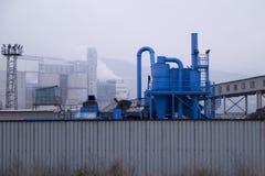 Industriële pijpen voor het schoonmaken van water royalty-vrije stock afbeeldingen