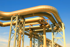 Industriële pijpleidingen Stock Afbeelding