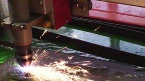 Industriële plasmamachine stock footage