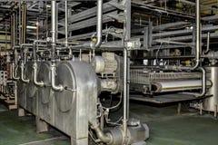 Industriële productie van aardappelzetmeel Verwerkingsinstallatie stock afbeeldingen