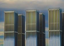 Industriële radiators Royalty-vrije Stock Foto