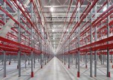 Industriële rekkenpallets Royalty-vrije Stock Foto's