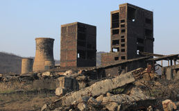 Industriële ruïnes royalty-vrije stock foto's