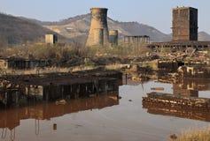 Industriële ruïnes stock afbeelding