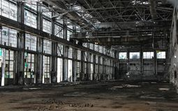 Industriële ruïnes Stock Foto's