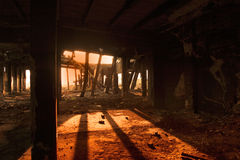 Industriële ruïnes royalty-vrije stock fotografie