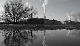 Industriële Scène: Cleveland, Ohio, de V.S. Royalty-vrije Stock Foto