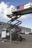 Industriële schaarlift Stock Foto's