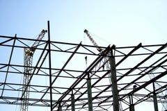Industriële silhouetten Royalty-vrije Stock Foto