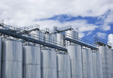 Industriële Silo's Royalty-vrije Stock Foto's