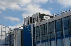 Industriële staalairconditioning en ventilatie royalty-vrije stock foto's
