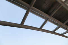 Industriële staalstructuur Stock Foto's
