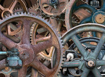 Industriële Steampunk-Achtergrond, Toestellen, Wielen royalty-vrije stock foto's