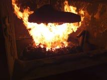Industriële steenkool furnac Stock Foto