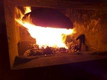 Industriële steenkool furnac Stock Fotografie