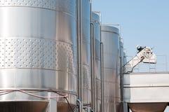 Industriële tanks Stock Afbeelding
