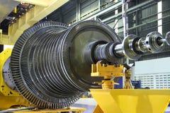 Industriële turbine op de workshop Stock Foto