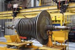 Industriële turbine op de workshop Stock Afbeeldingen