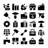 Industriële Vectorpictogrammen 10 Royalty-vrije Stock Foto