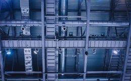 Industriële ventilatie en airconditioning Royalty-vrije Stock Foto's