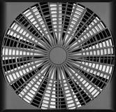 Industriële ventilatieventilator vector illustratie